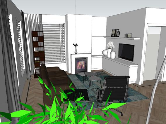 Interieurontwerp – Woonkamer en keuken